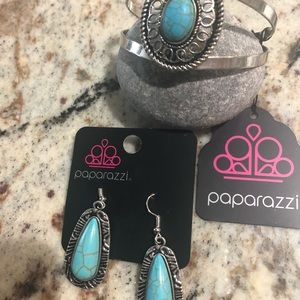 Paparazzi Earrings and Bracelet